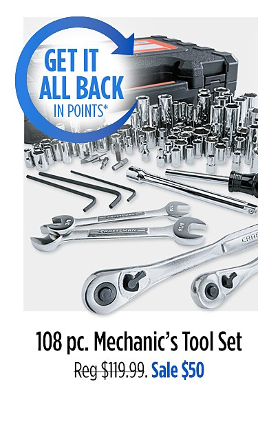 108 Pc Mechanic's Tool Set