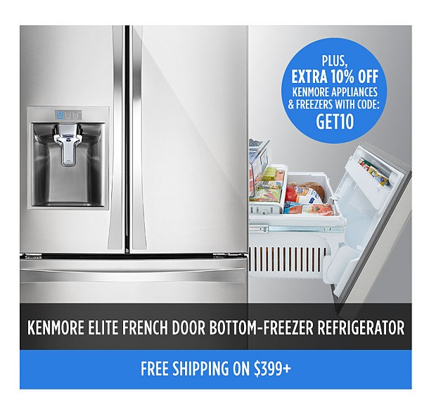 Kenmore Elite French Door Bottom-Freezer Refrigerator
