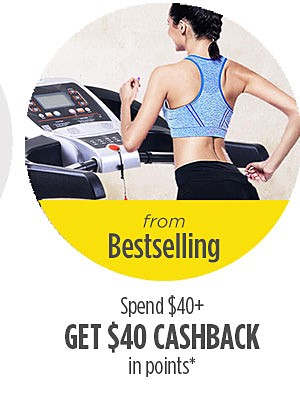 from Bestselling | Spend $40 or more, get $40 cashback in points