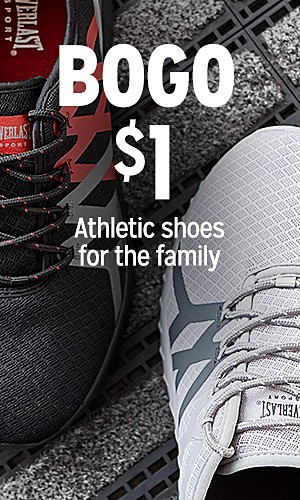 BOGO $1 Sneakers & athletic shoes
