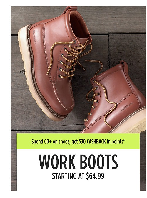 Work boots starting at $64.99