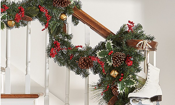 outdoor decor wreaths garland - Discount Outdoor Christmas Decorations