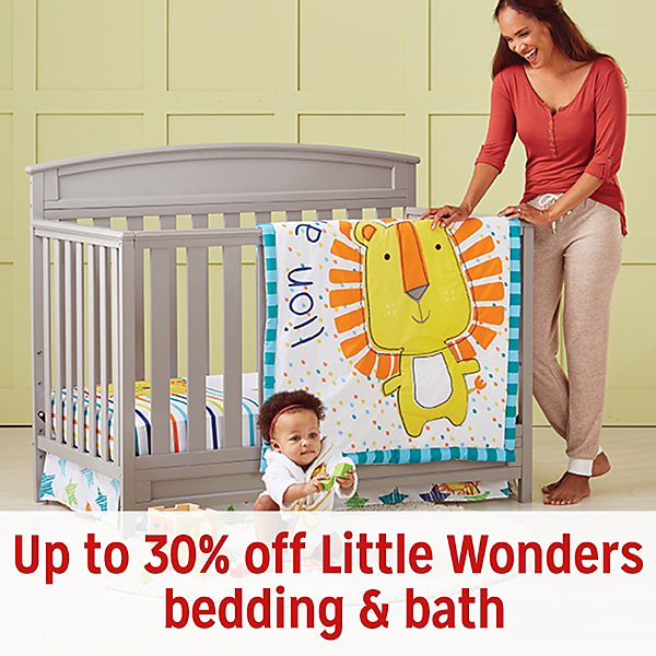 Up to 30% off Little Wonders bedding & bath