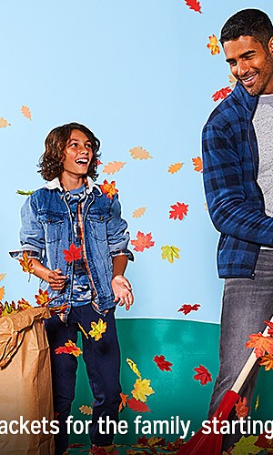 Coats & jackets for the family starting at $19.99
