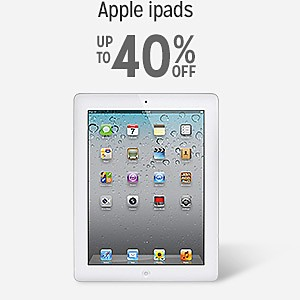 up to 40% off Apple iPads