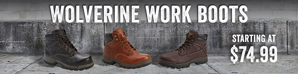 Wolverine Work Boots Starting at $74.99