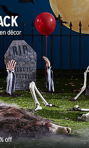 Halloween decor, up to 30% off