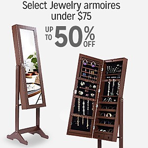 up to 50% off jewelry armoires