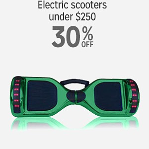 30% off Electric scooters under $250