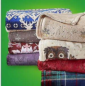 Blankets & throws, up to 50% off