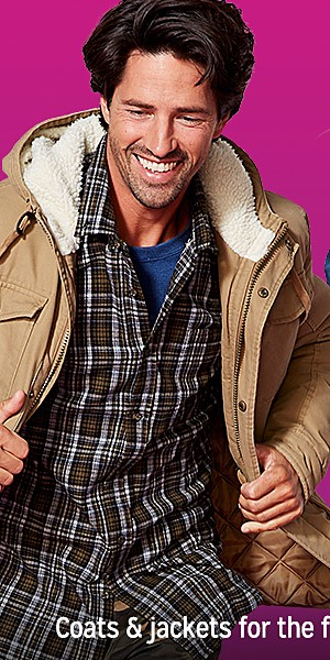 Coats & jackets for the family   up to 25% off