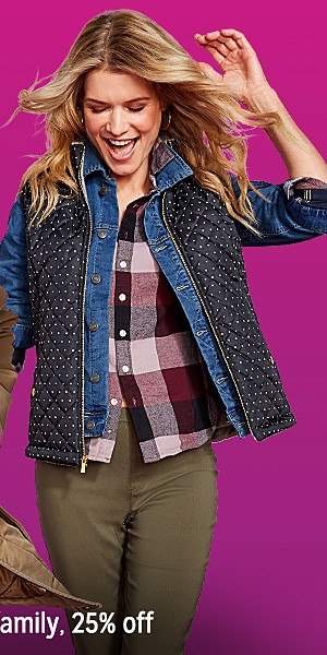 Coats & jackets for the family | up to 25% off