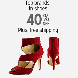 40% off & more plus FREE SHIPPING on Top Brands in Shoes