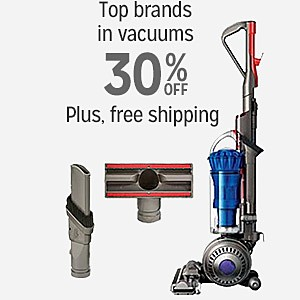 25% off & more plus FREE SHIPPING on Top Brands in Vacuums
