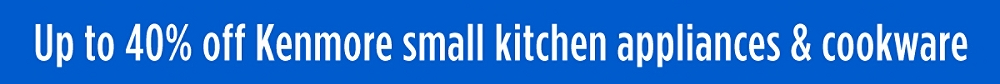Up to 40% off Kenmore small kitchen appliances & cookware