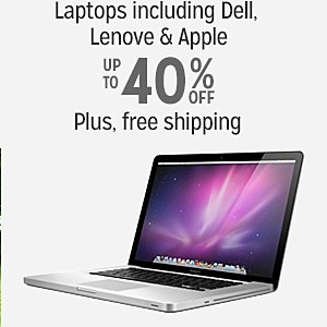 40% off & more plus FREE SHIPPING on Laptops including Dell, Lenove & Apple