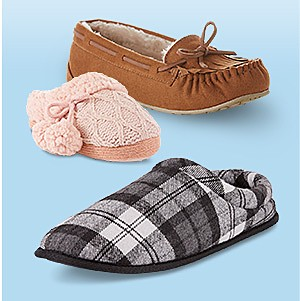 Slippers for the family, 40% off