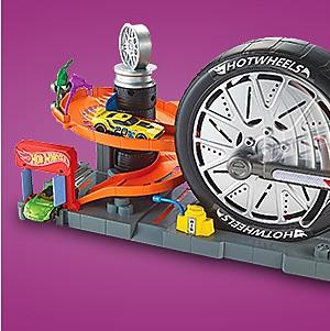 Hot Wheels super spin tire shop, $17.99