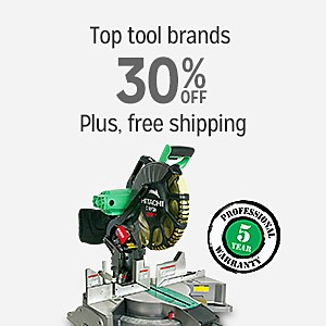 Top Tool Brands 30% off & More With Free Shipping
