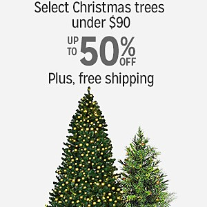 10-50% off select Christmas trees under $90 plus Free Shipping