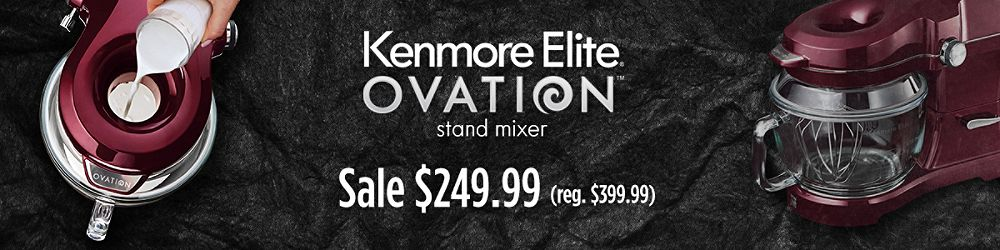 The Kenmore Elite Ovation stand mixer, sale $249.99