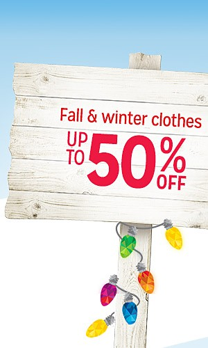 Fall & winter clothing | up to 50% off