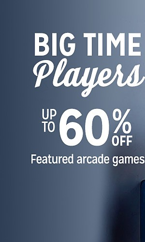 Up to 60% off featured arcade games