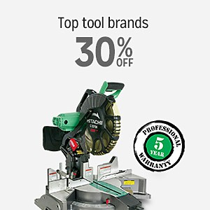 Top Tool Brands 30% off