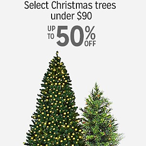 10-50% off select Christmas trees under $90