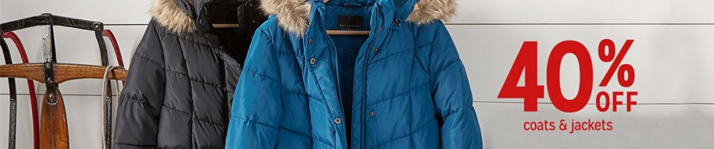 40% off coats & jackets