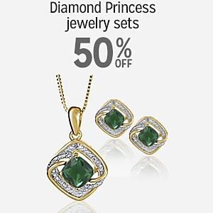 50% off Diamond Princess jewelry sets
