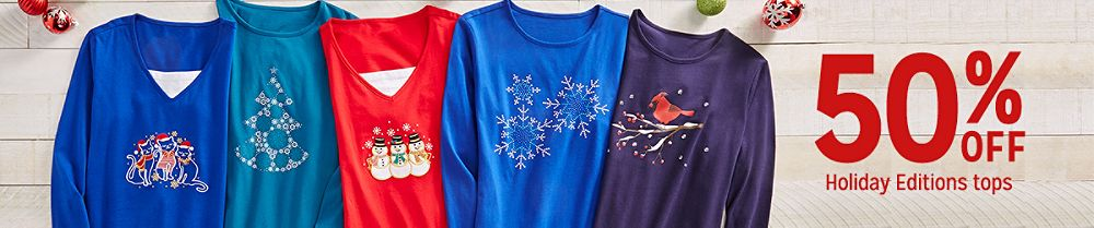 50% off Holiday Editions tops