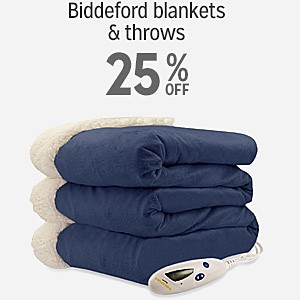 25% off and more on Biddeford blankets & throws