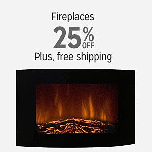 25% off and more on fireplaces with free shipping