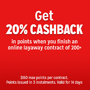 20% CASHBACK in points