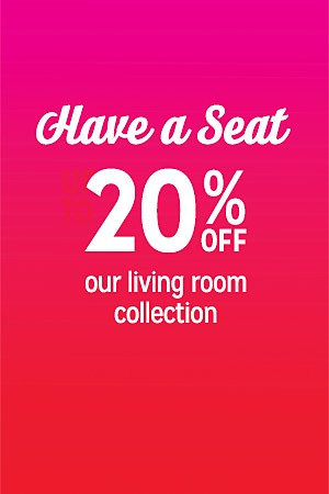 20% off living room furniture