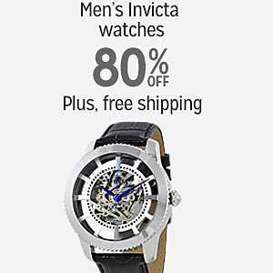 80% off Invicta men's watches plus Free Shipping