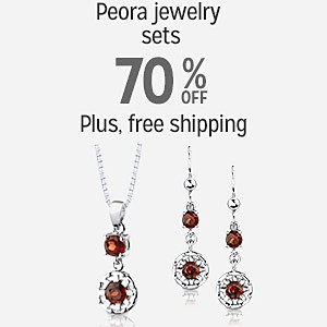 70% off Peora jewelry sets plus free shipping