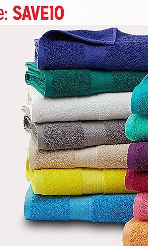 Bath towels, $4.99