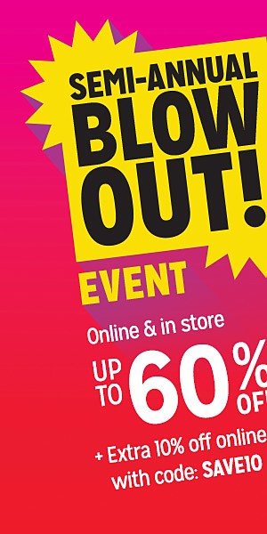 Semi-Annual Blowout! Up to 60% off clothing & accessories