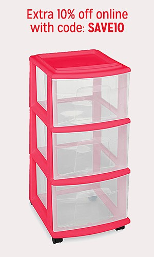 Storage & organization 30% off | Extra 10% off online with code SAVE10