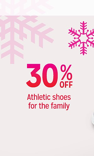30% off athletic shoes for the family | Extra 10% off online with code SAVE10