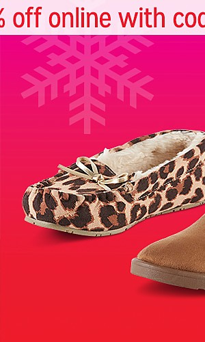 Shoes & slippers up to 60% off | Extra 10% off online with code SAVE10