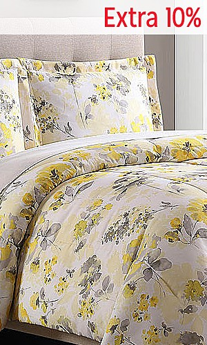 Microfiber comforter sets, $14.99 | Extra 10% off online with code SAVE10