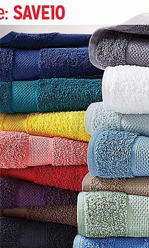 Bath towels, $4.99 | Extra 10% off online with code SAVE10