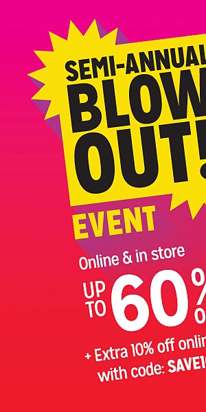 Semi-Annual Blowout! Up to 60% off clothing & accessories | Extra 10% off online with code SAVE10