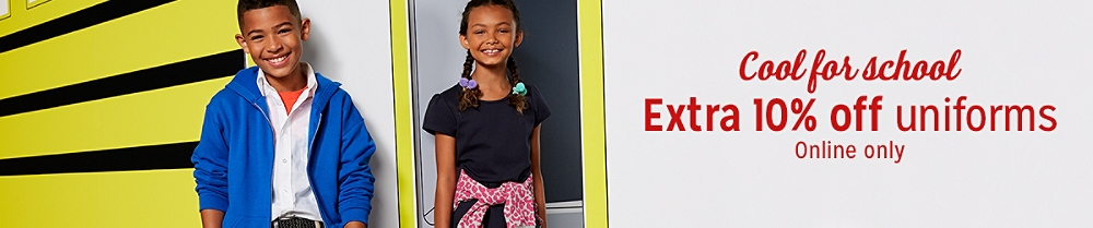Extra 10% off uniforms Online only