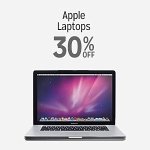 Apple laptops 30% off
