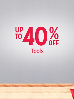Up to 40% off tools