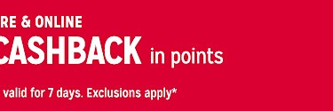 CASHBACK in points